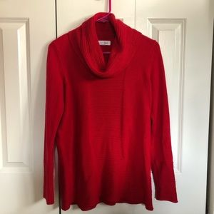 Red Calvin Klein Women's Sweater size Small